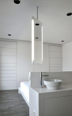 Reforma de baño en #Urquinaona #Barcelona junto al #dormitorio | #bathroom #repairs #bedroom #nordic #style #design