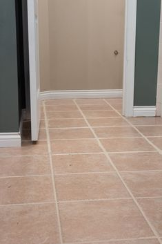 Make your tiled floor look brand new again! This tutorial has the easiest tips and tricks to paint your tile grout with just a few simple steps. Avoid the hassle of cleaning your dirty grout lines and find the best paint products to freshen up your grout. Grout Paint, Sanded Grout, Tile Grout, Budget Bathroom, Bathroom Renovations, Grout Repair, Easy Tile, Painting Tile Floors