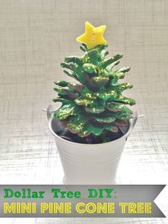 Holiday Crafts With Pine Cones | Easy DIY Mini Pine Cone Tree Winter Craft