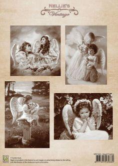 A4 knipvel Nellie's Vintage NEVI042 Hobbyshop Nellie Snellen