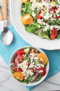 Easy Greek Salad wit
