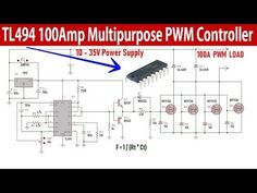 Hi, today I'll show you how to make a high amperage Multipurpose PWM Controller with the IC. Electronic Circuit Design, Power Supply Circuit, Induction Heating, Computer Repair, Ac Power, Science And Technology, Youtube, Designer Fonts, Circuits