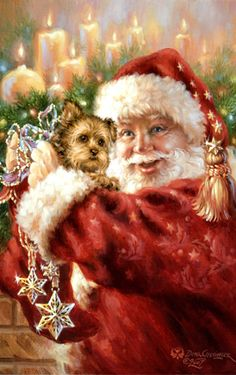 DG-7507 Yorkie for Christmas - Northwest Art Mall