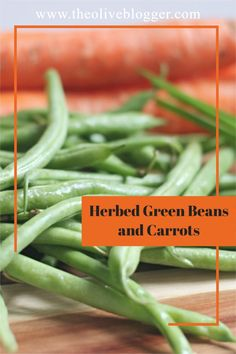 Easy and delicious green beans and carrot side dish that is coated in an herbed butter and broth mixture and topped with fresh chives. Delicious Green Beans, Carrots Side Dish, Carrots And Green Beans, Fresh Chives, Herb Butter, Easter Dinner, Vegetable Side Dishes, Easter Recipes, Yummy Food