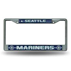 Seattle Mariners MLB Bling Glitter Chrome License Plate Frame
