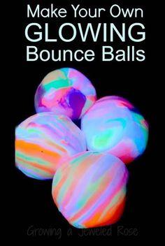 ..DIY glowing bouncy balls  #Family #Trusper #Tip