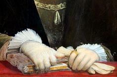 Christoph Amberger. Emperor Charles V. 1532. detail