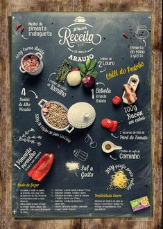 Food infographic Food Infographics To Share With Your Foodie Friends: Blend real food photos . Infographic Description Food Infographics To Food Design, Menue Design, Food Graphic Design, Design Design, Restaurant Menu Design, Restaurant Identity, Restaurant Restaurant, Plakat Design, Perfect Food