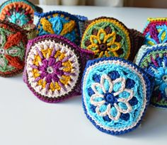 crocheted mandala cuff                                                                                                                                                     More
