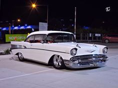57 Chevy - Mine was a black 1955 Chevy with a V8 engine- yes!