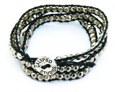 Silver Metallic Bead Wrap Bracelet by calypsostudios on Etsy, $14.99