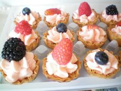 Fruit Tarts with Marscarpone