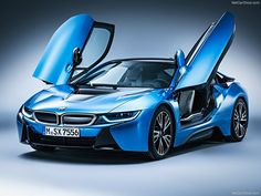 2015 BMW i8 in Electric Blue