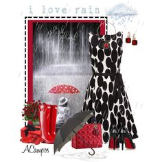 """I Love Rain"" by anna-campos on Polyvore"