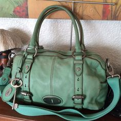 "Fossil """"Maddox"""" Convertible Satchel In Mint"