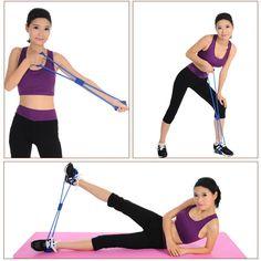 Crossfit New 8 Word Chest Developer Fitness Pedal Exerciser For Men and Women Rubber String Chest Developer resistance bands LLQ