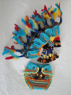 native american/ Indian Headdress and / hat and by MimiLaCreations-soooo CUTE! I would probably remove the real feather though so the whole thing ws soft b4 putting it on a baby for a costume but would work GREAT as a photo prop!!! :) this is really good!