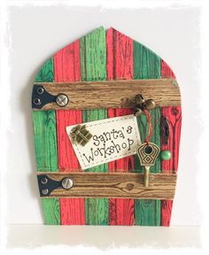 NEW Handcrafted Santa's Workshop Door / Fae by TraceyGrundyDesigns