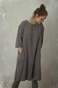 wool / linen dress by Knock Knock Linen