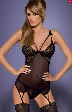 Obsessive Intensa corset komplet uodzicielski komplet bielizny