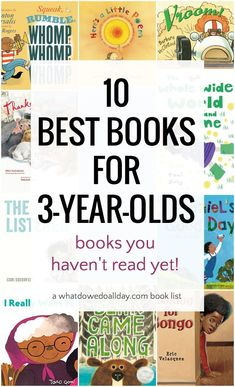 Tired of Dr. Seuss and The Very Hungry Caterpillar? Read these 10 best books for 3 year olds that you haven't read, yet. They are sure to become favorites! You are in the right place about Montessori Preschool Books, Montessori Activities, Toddler Preschool, Book Activities, Preschool Activities, Toddler Games, Best Toddler Books, Best Children Books, Childrens Books