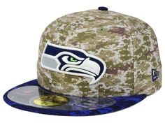 5bea9f33666 Seattle Seahawks New Era NFL 2015 Salute to Service 59FIFTY Cap