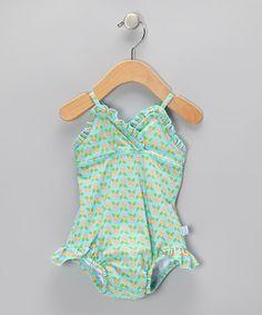 i play Aqua Geo Blossom Skirted One-Piece - Infant Baby Swimwear, Baby Girl Swimsuit, My Little Girl, Infant Toddler, Geo, Baby Girls, Tankini, Aqua, That Look