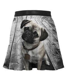 Mr. Gugu & Miss Go Black Pug Sublimation Skirt