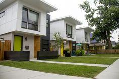 Boxy new homes in Platt Park. (Kevin J. Beaty/Denverite) south pearl street; platt park; reisdential; real estate; home; kevinjbeaty; denver; denverite; colorado