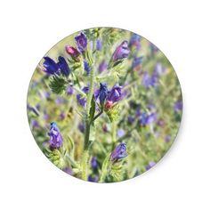 Customise Product purple pink & blue Round Sticker