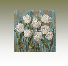 tulp bloem olieverfschilderij eenvoudige bloem schilderij