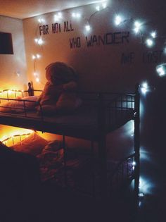 I had nothing to do soooo this happened. <3 #bedroom #lights #christmaslights