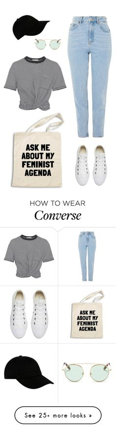 """""""Agenda"""" by audrey-balt on Polyvore featuring Converse, Victoria Beckham, Topshop, T By Alexander Wang and STONE ISLAND"""