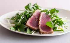 Grilled Tuna And Watercress Salad With Asian Flavors