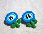 Super Mario flower earrings