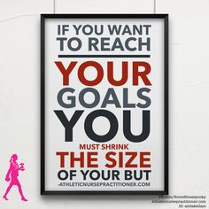 """Read this carefully: """"if you want to reach your goals you have to decrease the size of your but.""""  Is your but holding you back?    I have a new support group starting soon that will give you the kick in the butt you need. Message me.   This online challenge group begins soon and is designed to help you re-establish a routine to help you live a happy, healthy lifestyle. We'll be focusing nutrition and fitness and HABITS. You'll have EVERYTHING you need to be successful!"""