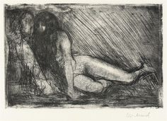 Secret - Edvard Munch 1913 Norwegian Etching, aquatint and drypoint on sturdy wove paper Edvard Munch, Life Drawing, Painting & Drawing, Oslo, Vintage Artwork, Art Plastique, Figurative Art, Art History, Printmaking