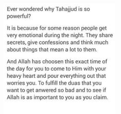 The power of the Tahajjud prayers. Islamic Qoutes, Islamic Teachings, Islamic Inspirational Quotes, Muslim Quotes, Islamic Dua, Hadith Quotes, Allah Quotes, Prayer Quotes, Quran Quotes