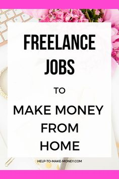 How to make money from home working as a freelancer. Find in this post where you can get a Freelance job and work part time on things you love to do. Amazon Work From Home, Work From Home Jobs, Make Money From Home, Way To Make Money, How To Make, Best Online Jobs, Freelance Writing Jobs, Job Work, Making Extra Cash