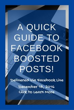 Curious about Facebook Boosted Bosts? Wondering how to use that blue button on your Facebook Page? I'll be sharing a few tips and tricks on how to use this awesome tool to build your personal brand/page. Click through to sign up!