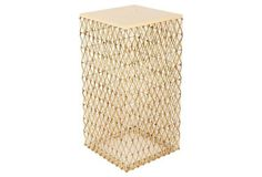$498 This woven side table adds an architectural element to the room. Its flat, smooth top is just the right size to hold a glass, a frame, or a stack of books.The tagline of Philips Collection is...
