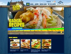 "Alaska Fish Taco Website --- This fun promotional website was designed around the growing popularity of fish tacos and the mobile food truck movement. Consumers can search recipes or visit the interactive ""Taqueria"" to build their perfect taco. Visitors can even learn about the great surfing spots in Alaska, watch videos, and sample recipes from the famous Border Grill. #schied4 #digitalmarketing"