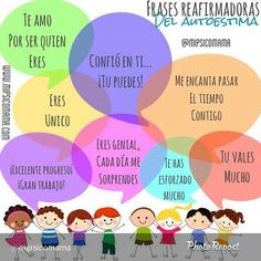 Favorece la autoestima... Parenting Advice, Kids And Parenting, Affirmations For Kids, Mindfulness For Kids, Morning Messages, Teaching Spanish, Elementary Spanish, Emotional Intelligence, Therapy Activities