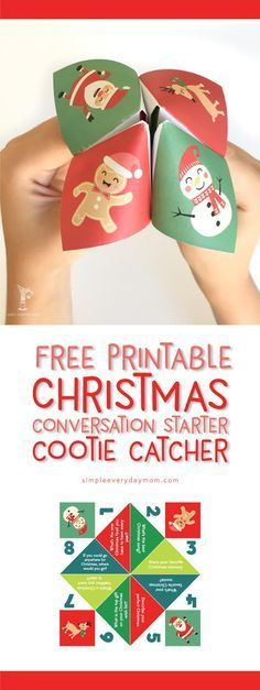 Christmas cootie catcher free printable | printable Christmas kids | paper fortune teller