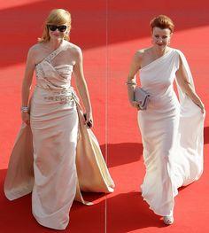 Filmový festival Karlovy Vary - červený koberec. Aňa Gaislerová a Jitka Schneiderová Formal Dresses, Wedding Dresses, One Shoulder Wedding Dress, Anna, Celebrity, Raspberry, Fashion, Dress, Dresses For Formal