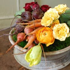 Bountiful arranging using vegetables