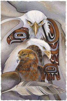 Jody Bergsma Animal Spirits Prints | ... Elements :: Native American :: Air Animals :: Eagle Spirit- Prints