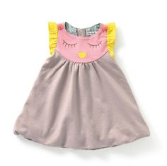 Moulin Roty - Sage - Owl dress. Available at bonjourpetit.com