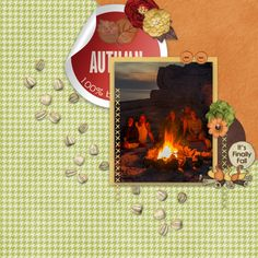 Layout created using Fall Favorites by Dandelion Dust Designs and Roy G Biv Templates {Green}by Heather Z. Sunny Afternoon, Autumn Morning, Lowercase A, Paper Texture, Word Art, Dandelion, Layout, Symbols, Scrapbook