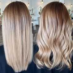 Beautiful fall balayage by @allydestouttt STRAIGHT OR CURLED rich balayage for all my girls getting ready for fall... when I'm not doing vivids I am practicing at perfecting my second love... Balayage #hotforbeauty #ketteringhair . . . . #blonde #blondehair #balayage #blondebalayage #hairpainting #shadowroot #fallbeauty #fallhair #fallhaircolor